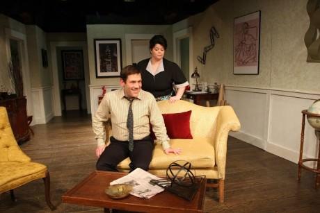Jim Breem (Robert) and Anne Vandercook  (Bertha). Photo by Scott D'Vileskis.