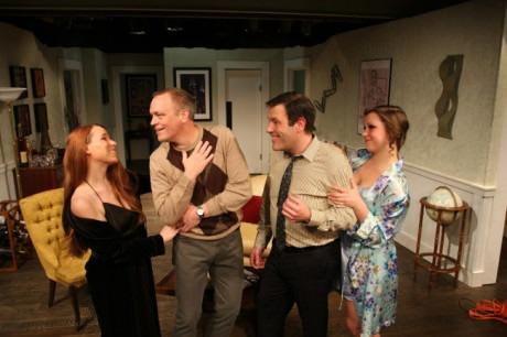(L to R) Netta Morelli (Judith), Jim Breem  (Robert), Jason Damaso (Bernard), and (Christina Fox (Jacqueline). Photo by Scott D'Vileskis