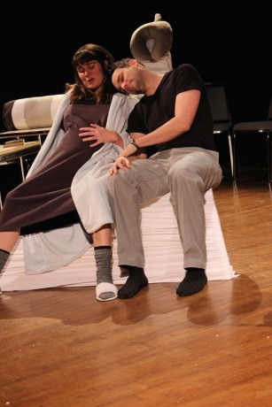 Scene from 'The Benefactor'. Photo courtesy of StillPointe Theatre Initiative.