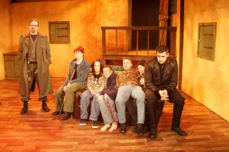 Cast of 'The Lieutenant of Inishmore'. Photo by Edward Cragg.
