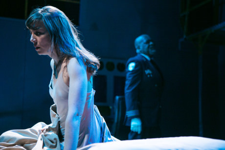 Sara Barker as Desdemona and Chuck Young as Othello. Photo by C. Stanley Photography.