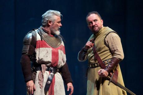 Darrell D'Silva (Siward) and Keith Fleming (Macduff). Photo by KPO Photo.