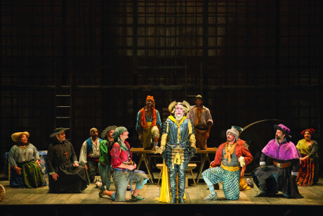 The cast of the Shakespeare Theatre Company's production of 'Man of La Mancha. Photo by Scott Suchman.