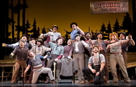 The cast of 'Paint your Wagon.' Photo by Joan Marcus.