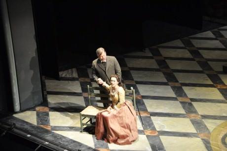 Cecilia Violetta López as Violetta and Malcolm MacKenzie as Giorgio Germont. Photo courtesy Virginia Opera.