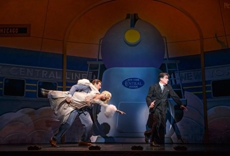 Andy Karl, Kristin Chenoweth and Peter Gallagher in 'On the 20th Century.'Photo by Joan Marcus.