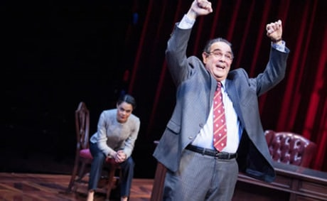 Kerry Warren as Cat and Edward Gero as Supreme Court Justice Antonin Scalia. Photo by C. Stanley Photography.