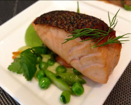 Atlantic Salmon 'Mi-Cuit'.
