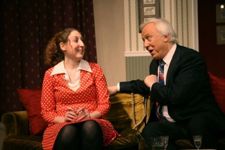 Laurie Simonds as Mary Detweiler and Peter Harrold as Frank Foster. Photo by J. Andrew Simmons.