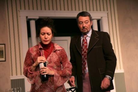 Karen Romero as Teresa Phillips and John O'Leary as William Detweiler. Photo by J. Andrew Simmons.