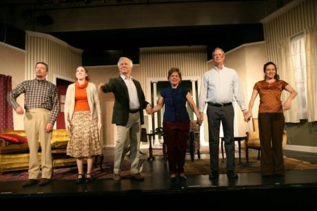 Cast of How the 'Other Half Loves'. Photo by J. Andrew Simmons.
