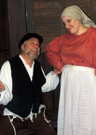 Dino P. Coppa, Sr. as Tevye and Tori Weaver as Golde. Photo courtesy of Way Off Broadway Theatre.