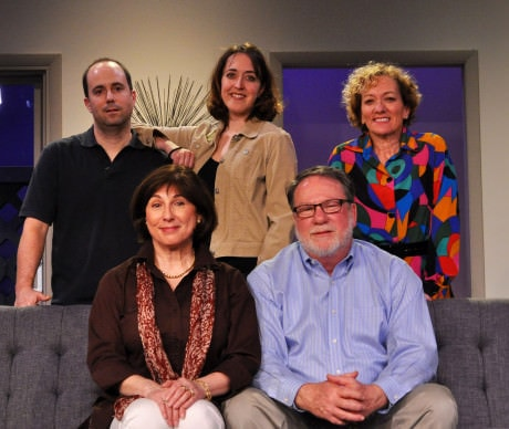 The cast of 'Other Desert Cities' at Providence Players of Fairfax.