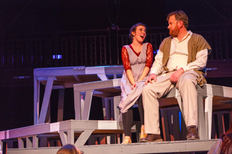 Mary Magdalene (Emma Gwin) and Jesus (John Downes). Photo by David Harback.