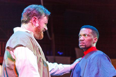 Jesus (John Downes) and Judas (Terry Spann). Photo by David Harback.