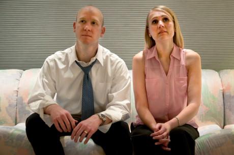 Howie (Don Kammann) and Becca (Zarah Rautell). Photo by Rachel Verhaaren.