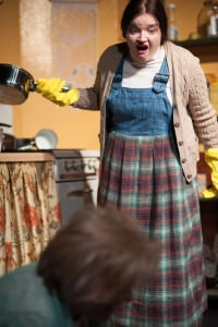 Kat McKerrow' (Maureen Folan). Photo by Spotlighters Theatre/Chris Aldridge, CMAldridgePhotography.