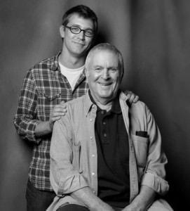 Greg Pierce and John Kander. Photo courtesy of Signature Theatre.