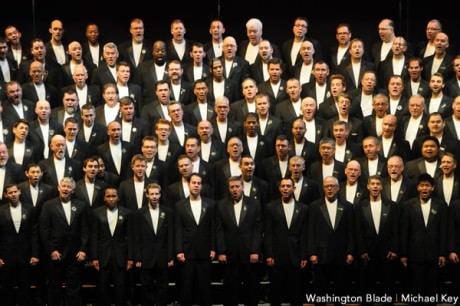 Gay Men's Chorus of Washington. Photo by Michael Key of The Washington Blade.