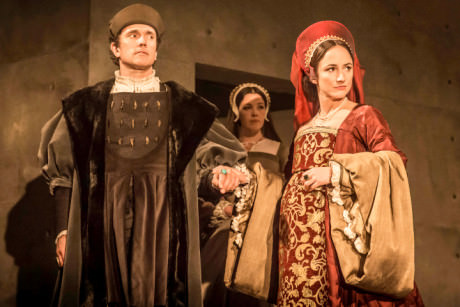 Ben Miles and Lydia Leonard in 'Wolf Hall.' Photo by Johan Persson.