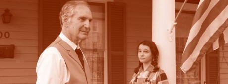 Rick Stuart (Atticus Finch) and Sydney Q. Lauricella-Reed (Scout Finch). Photo courtesy of Rockville Little Theatre.