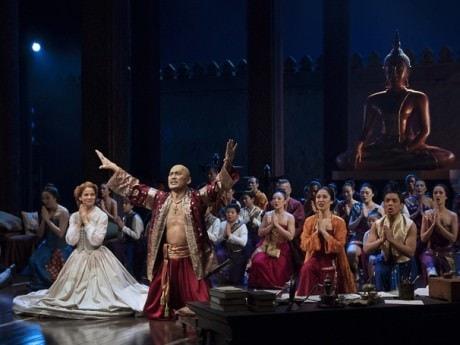 Kelli O'Hara (Anna), Ken Watanabe (King of Siam), and the cast of 'The King and I.' Photo by Paul Kolnik.