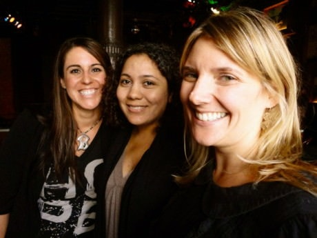 "Co-producers of ""The Last Song before the War"", (left to right) Andrea Papitto, Leola Calzolai-Stewart and Kiley Kraskousak. Courtesy of Kiley Kraskousak."