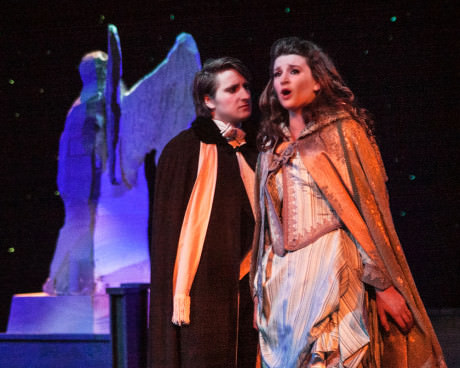 Raoul (Jeffrey Walter) and Christine (Laura Sparks). Photo by  Rosemary Malecki and AACC.