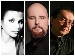 Carmen Balthrop (Soprano), Timothy Mix (Baritone), and Genadi Zagor (on piano). Photo courtesy of Russian Chamber Art Society.