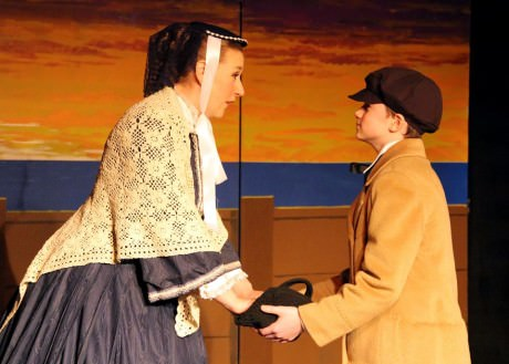 Jennifer L. Pagano (Anna) and Sean A courtesy of Washington County Playhouse.