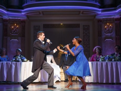 Nick Spangler (Greg) and Montego Glover (Annie) in 'It Shoulda Been You.' Photo by Joan Marcus.