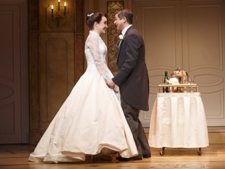 Sierra Boggess (Rebecca) and David Burka  (Brian) in 'It Shoulda Been You.' Photo by Joan Marcus.