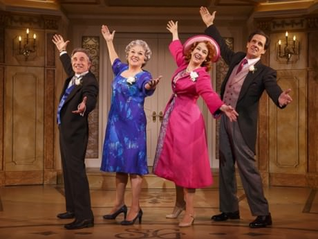 Chip Zien (Murray), Tyne Daly (Judy), Harriet Harris (Georgette), and Michael X. Martin (George) in 'It Shoulda Been You.' Photo by Joan Marcus.