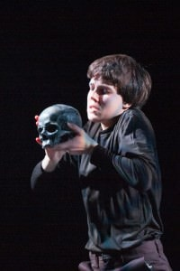 Sean Silvia (Hamlet). Photo by Dennis Deloria.