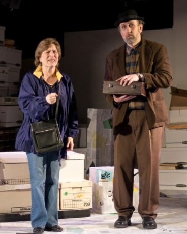(L-R) Karen Fleming (Mary) and Michael Sigler (Zamenhof/Baker). Photo by Harvey Levine.