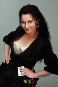 """Mezzo-soprano Magdalena Wor portrays the title role in Lyric Opera Virginia's production of """"Carmen.""""Photo by  Anne Peterson,  Courtesy of the Lyric Opera Virginia."""