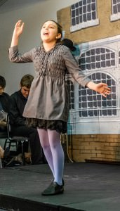 Sophia Riazi-Sekowski performing at '65 Years of Broadway! The Best Musicals, Abridged' at 2nd Star Productions. Photo by Nathan Jackson.