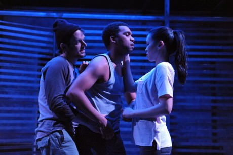 L-R DeLance Minefee, Jeena Yi, and Ryan Barry. Photo by Stan Barouh