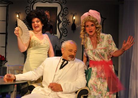Julie Janson, Craig Geoffrion, and Elizabeth Keith. Photo by Chip Gertzog.