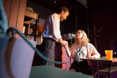 Nicholas Parlato (Charlie) and Ellen C. Jenkens (Vera). Photo by Jeffrey S. Gangwisch.
