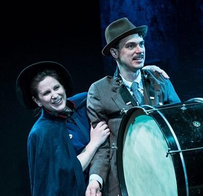 "Julia Morrissey (Major Barbara)  and Ian Blackwell Rogers (Adolphus ""Dolly"" Cusins). Photo: by Teresa Castracane Photography LLC."