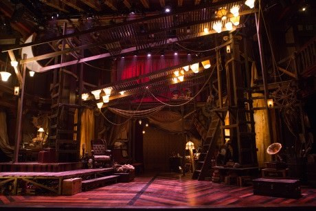 The set designed by Paige Hathaway for 'Rosencrantz and Guildenstern are Dead' at Folger Theatre. Photo by Teresa Wood.