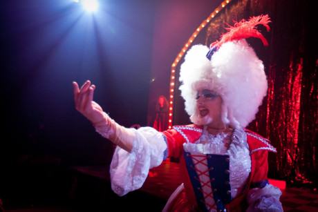 Alex Mills as his character Jerry's Drag persona, Betty-May. Photo by Koko Lanham.
