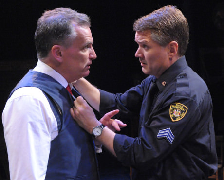 Sean Haberle (Walter Franz) and Charlie Kevin (Victor Franz). Photo by Stan Barouh.