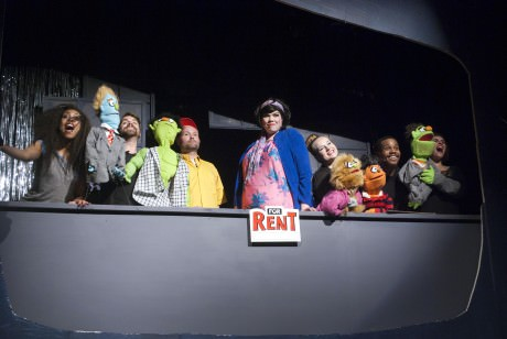 The cast of 'Avenue Q':  With CiCi Monáe, Adam Cooley, Ken Jordan, Danielle Robinette, Erin Adams, Lawrence D Bryant IV and Zoe Kanter. Photo courtesy of Stillpointe Theatre Initiative.