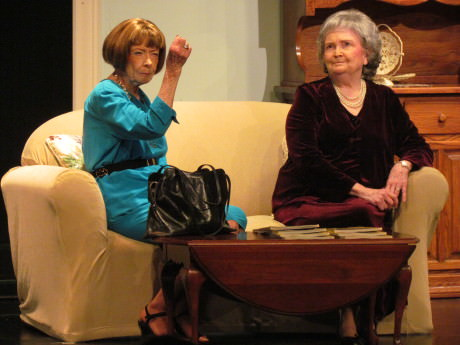 Jane Tonkinson (L) and Sally Simko (R) in 'P is for Perfect.'