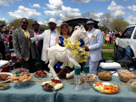 Karen Gilbert and guests.