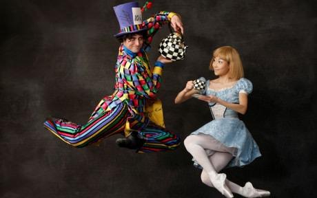 "Jared Nelson and Maki Onuki dance in ""Alice in Wonderland"" for the Washington Ballet.  Photo by Dean Alexander."