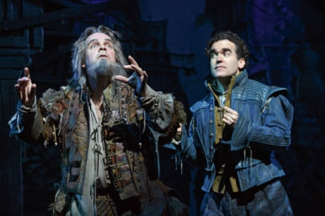 Brad Oscar (Nostredamos) and Brian d'Arcy James in 'Something Rotten!' Photo by Joan Marcus.