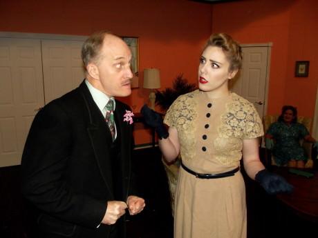 James McDaniel (Dunlap) and Lea Scherini (Murphy). Photo by Roy Peterson.